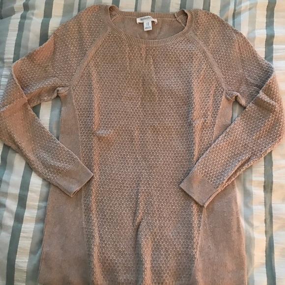 Motherhood Maternity Sweaters - Motherhood Maternity Taupe Paneled Sweater